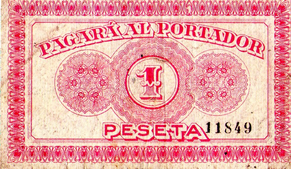 BILLETE REPUBLICANO CAUDETE ALBACETE CONSEJO MUNICIPAL 1 PESETA  Img099