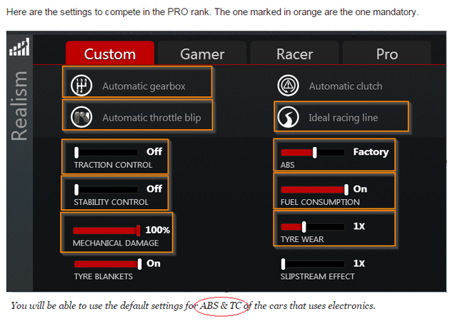 Question about settings used in Pro rank. Immagine