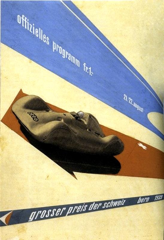1937 Auto Union Type C V16 Streamliner AFFICHE_2