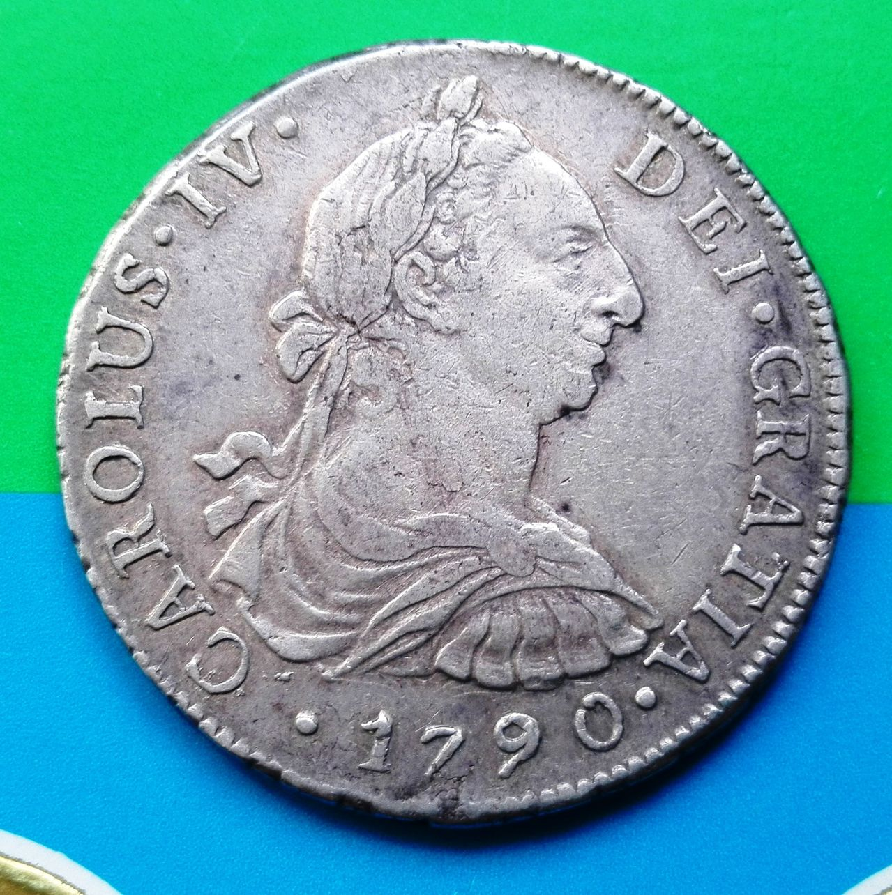 8 reales 1790 Carlos IV, Lima 8_reales_1790_lima