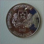10 Dolares 1989 año de la serpiente SINGAPUR  (Bayukas dedit) Image