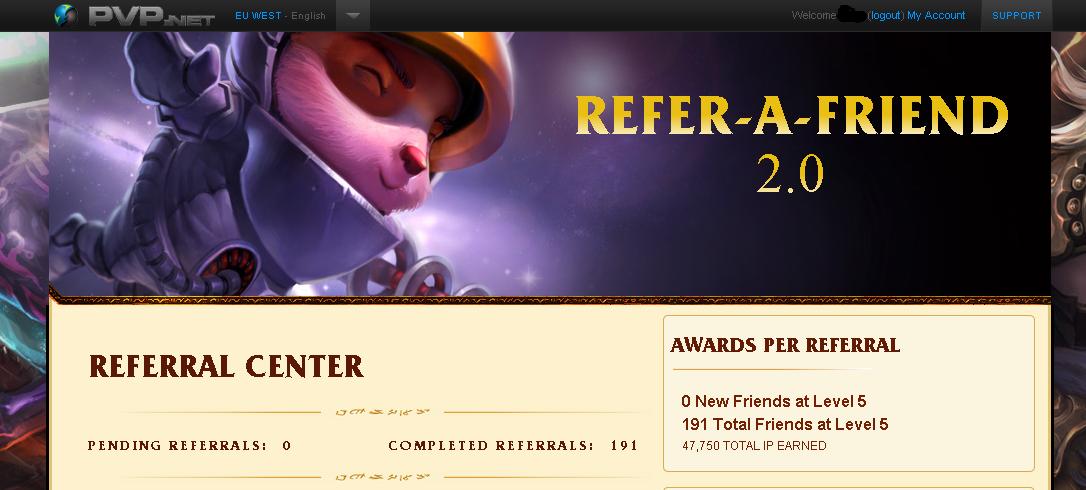 League of Legends - 2.0 Referral Service [EESTI] Level5