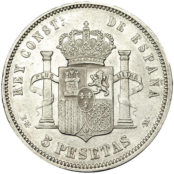 5 pesetas 1879 buena y mala 3484r