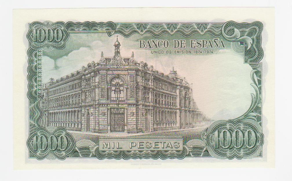 1000 Pesetas 1971 (Serie 9A) 1000_pesetas_1971_serie_9_A_001