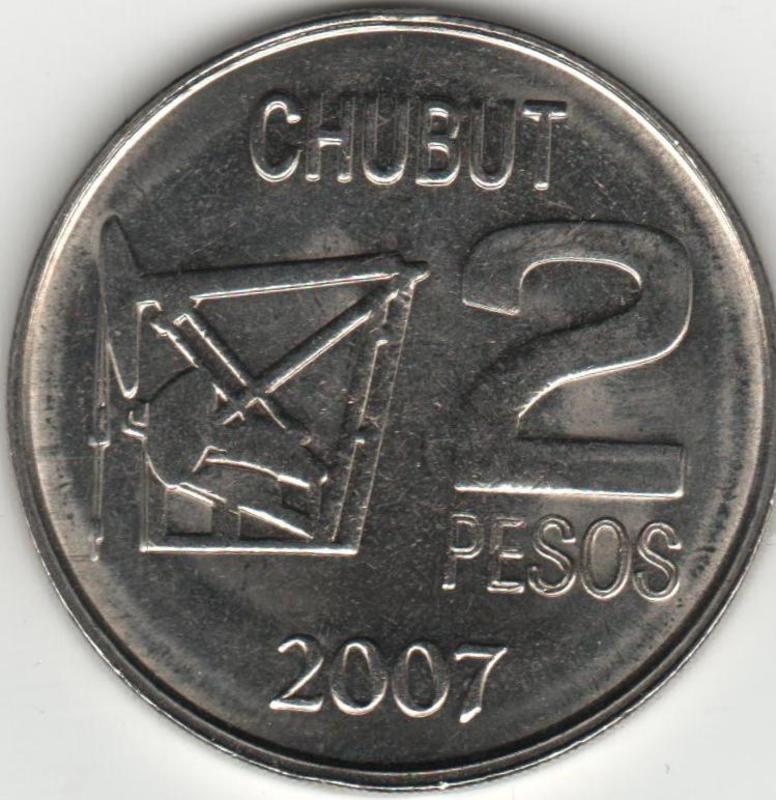 Moneda CONMEMORATIVA del centenario del DESCUBRIMIENTO DEL PETROLEO EN ARGENTINA.  REVERSO_PETROLEO