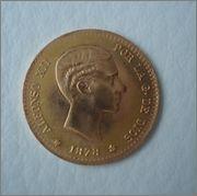 10 Pesetas 1878 *62 Alfonso XII (reacuñación ) Image