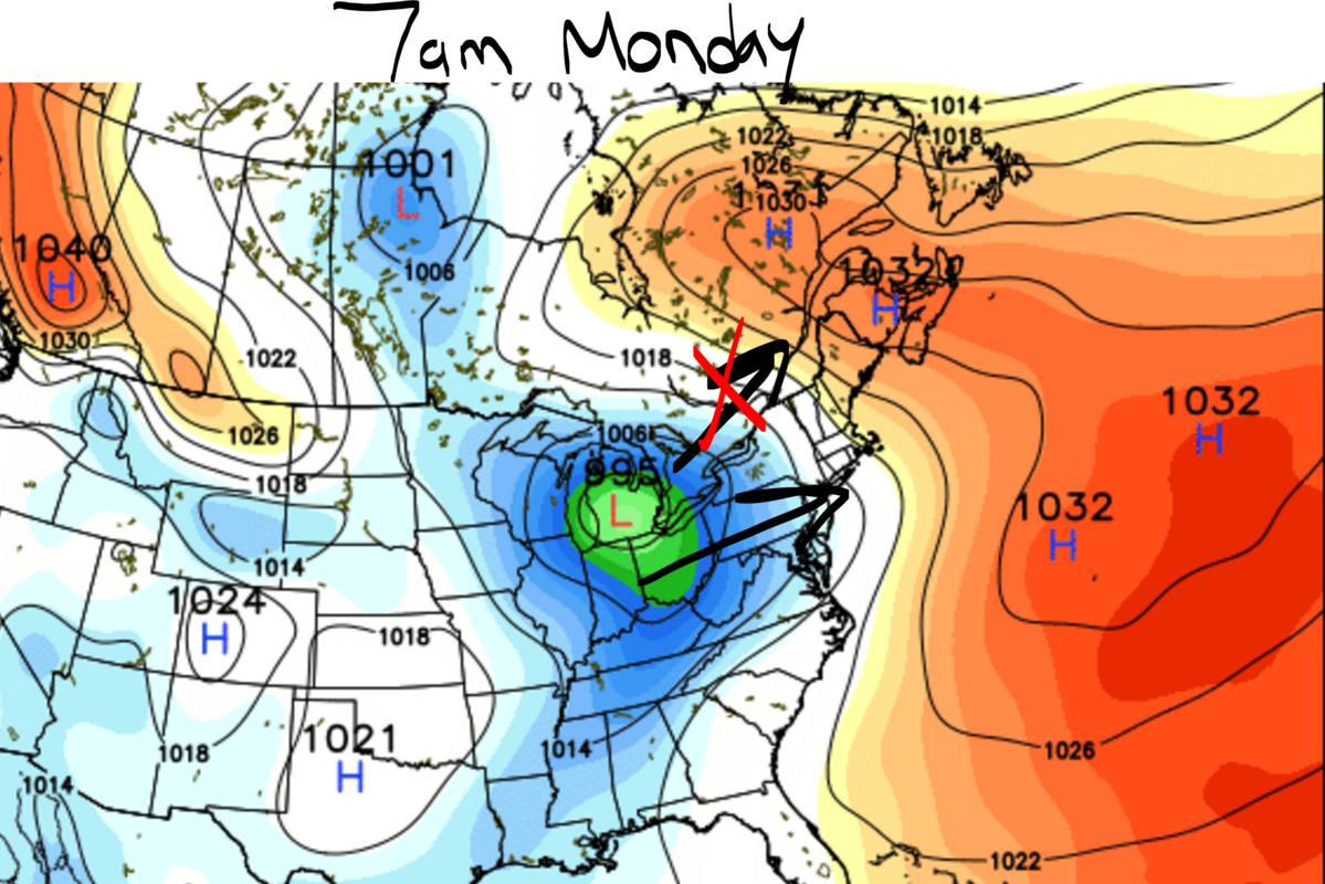 Monday 12/12 Storm Update #1 Mslp