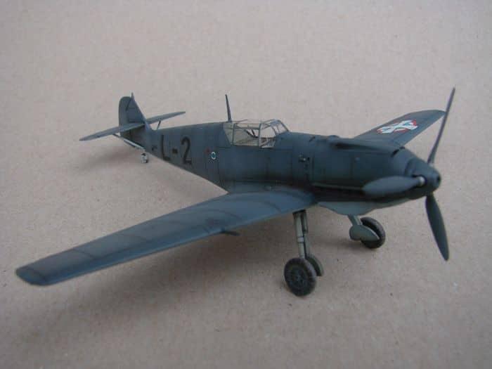 Bf-109E-3VVKJ, Tamiya, 1/72 DSC03065