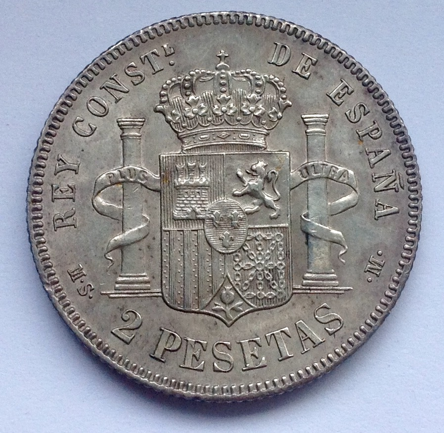 2 pesetas 1881 Alfonso XII  Image