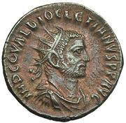 Antoniniano de Diocleciano. IOVI CONSERVATORI AVGG. Diocleciano y Júpiter. Ceca Tripolis. IMG_3813