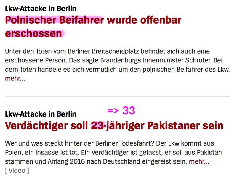 """Truck Attack – """"Anschlag"""" in Berliner Weihnachtsmarkt Pol_beif"""