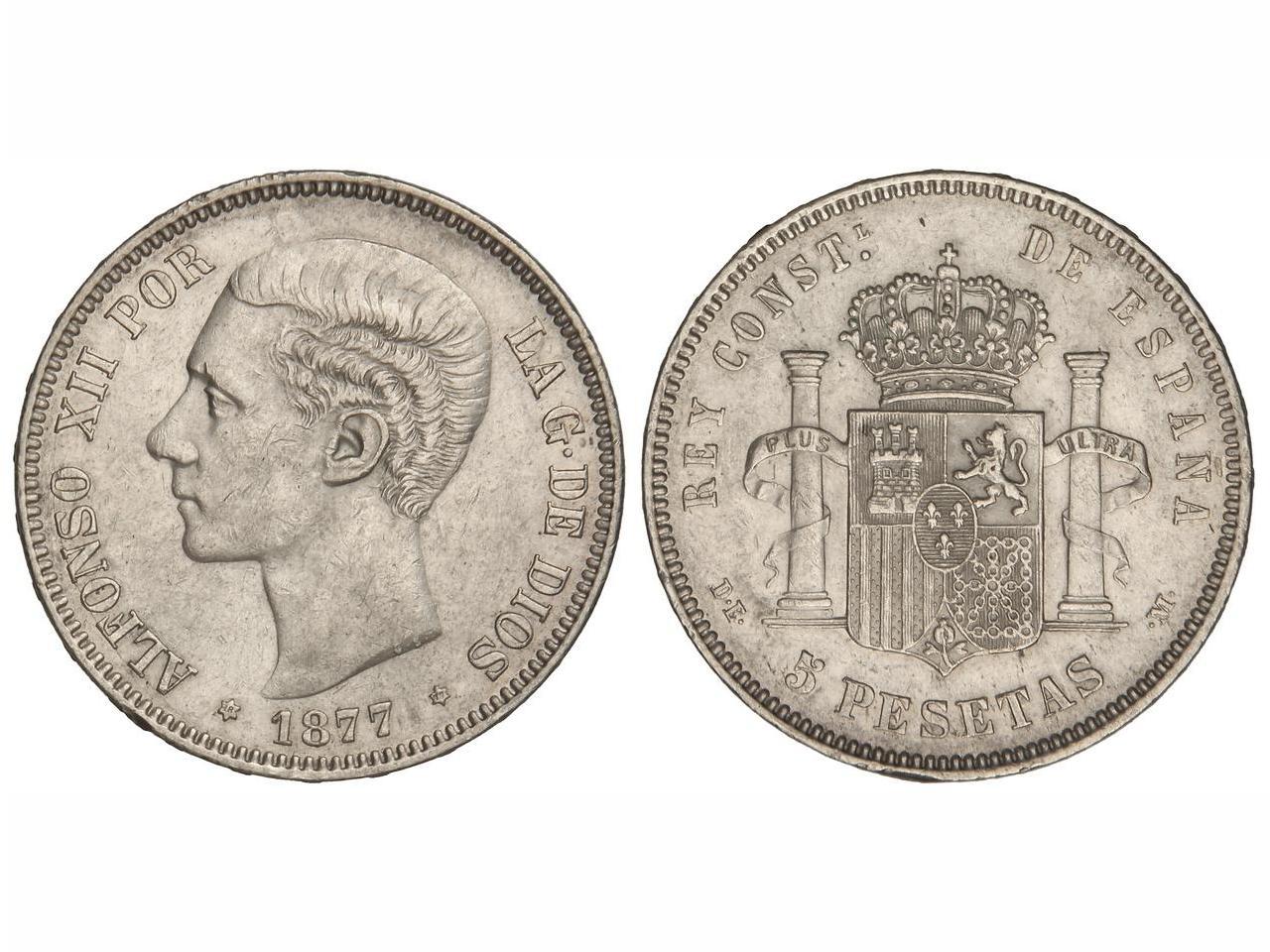 5 Pesetas 1877. Alfonso XII  IMG_1407