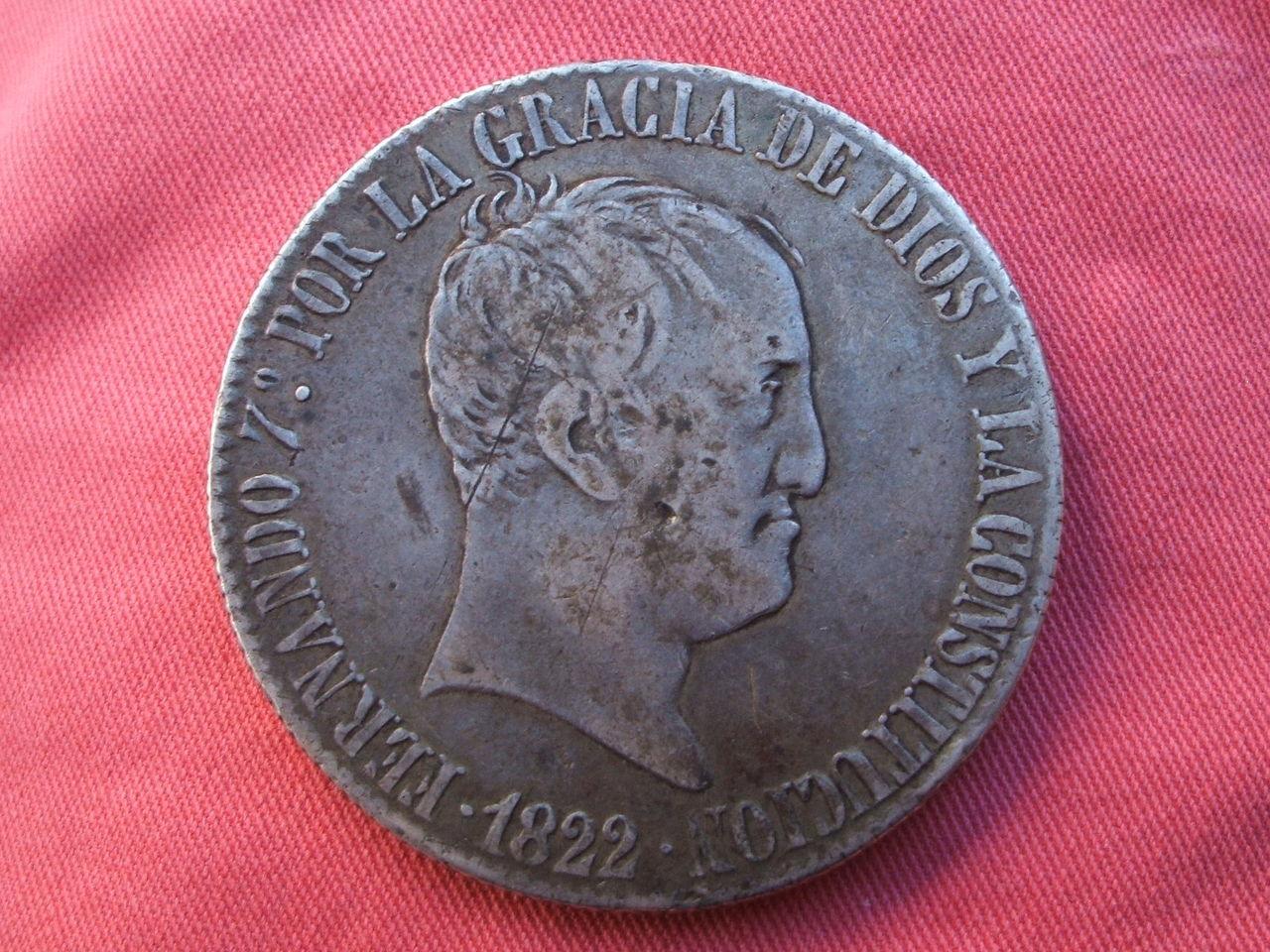 1822 - 20 Reales 1822 Fernando VII - Madrid. S-R. Fsi_2