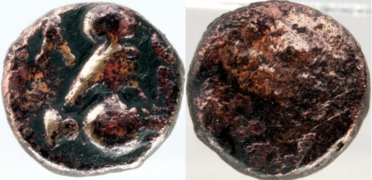 Bronce de Atenas (Atenea - Mochuelo sobre ánfora) / 195-190 a.C. Griega_01