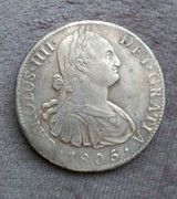 8 reales 1805. Carlos IV. Méjico. Alguna forma de identificar si mi moneda ha estado algunos siglos bajo el agua? IMG_20170527_011522