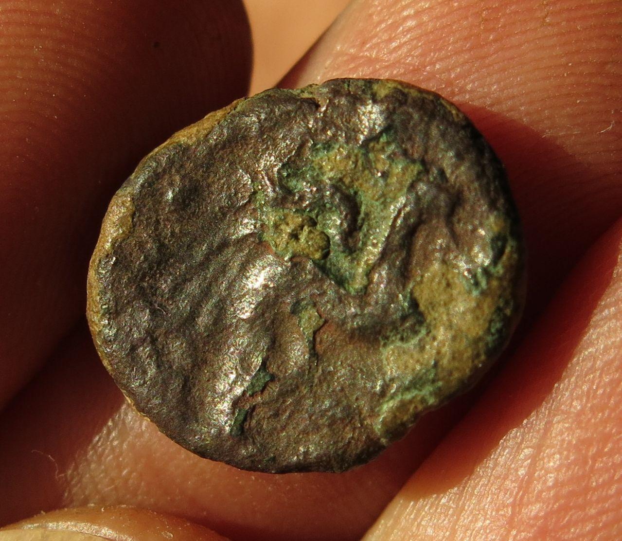 Identificarcion y data moneda con caballo alado. 019