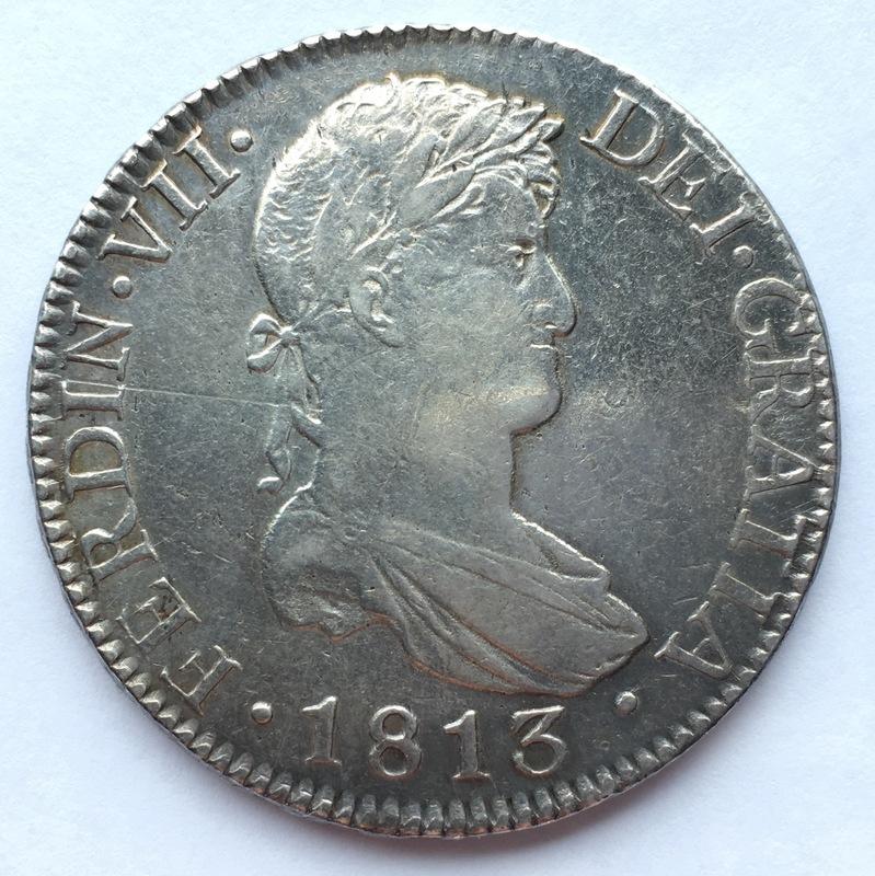 8 reales 1813. Fernando VII. Cádiz. El busto de Sagau. IMG_8744