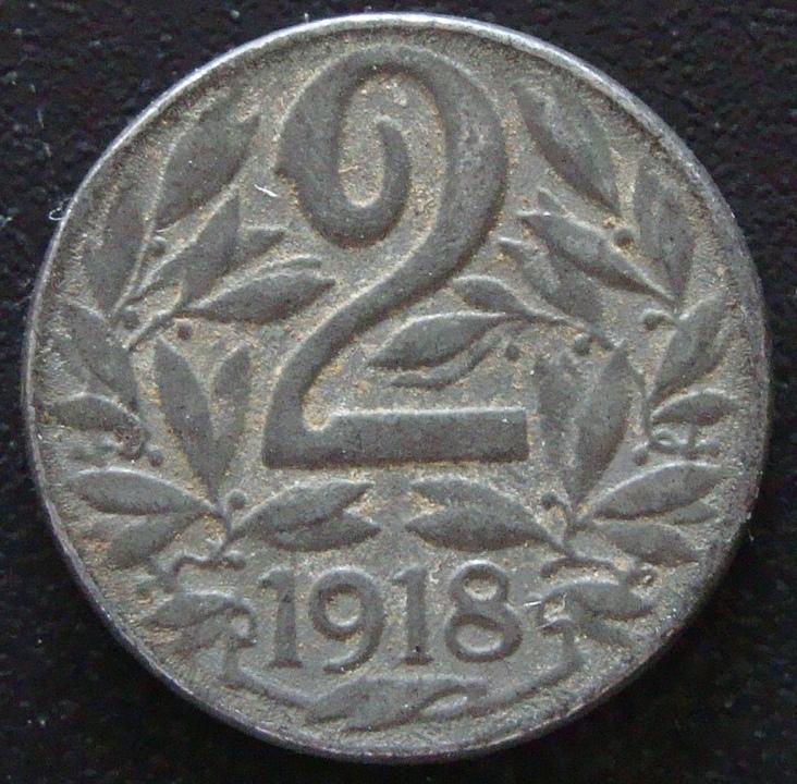 2 Heller. Imperio Austro-húngaro (1918) AUT_2_Heller_1918_rev