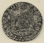 8 reales tipo COLUMNARIO Felipe V , ceca de México 1740. Img002