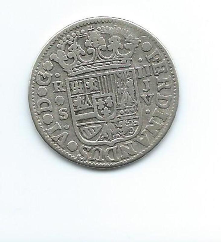 2 reales de Fernando VI, Sevilla. 1758 Image