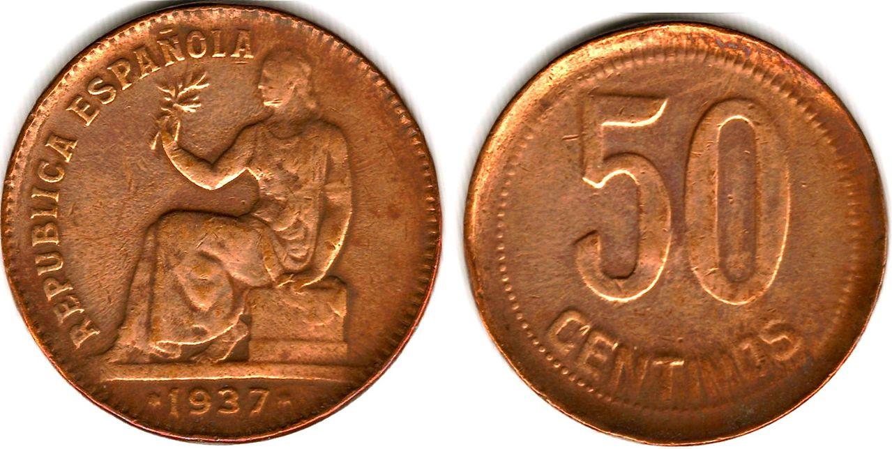 Los 50 Centimos de 1937 y sus variantes por Sergio Ibarra Image