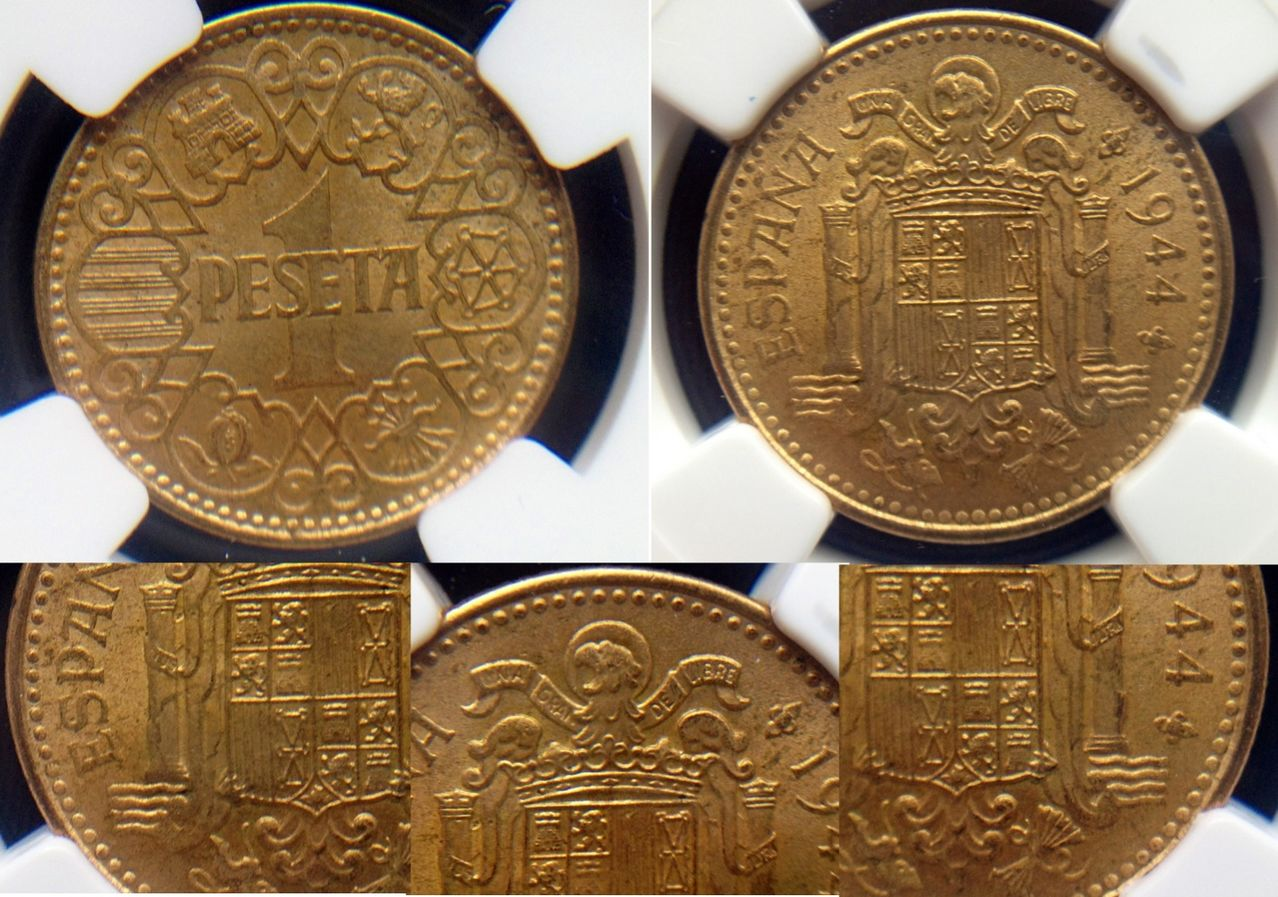 1 peseta 1944. Estado español Image