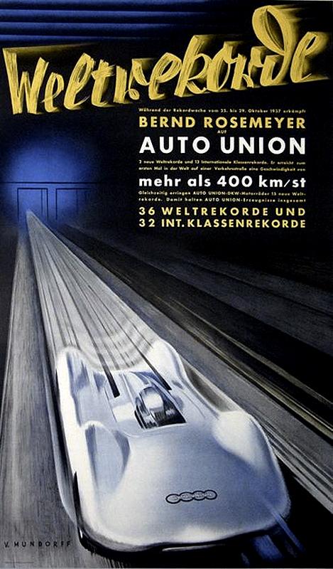 1937 Auto Union Type C V16 Streamliner AFFICHE_1