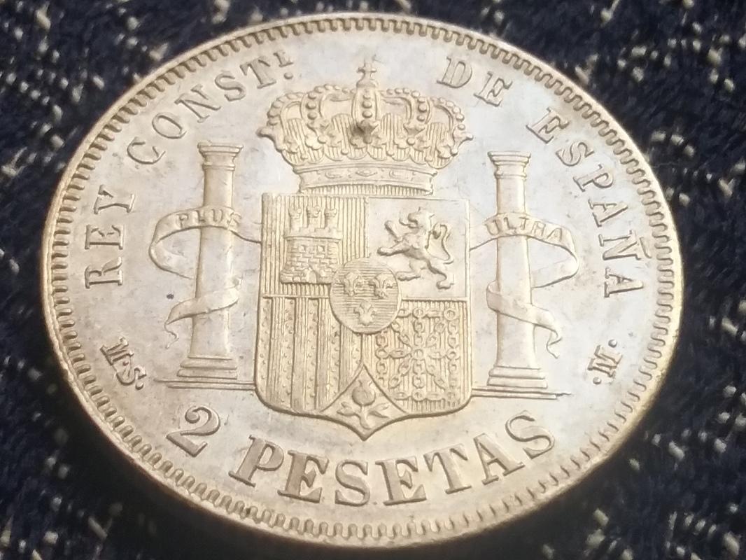 2 pesetas 1881. Alfonso XII 14936365571521199296720