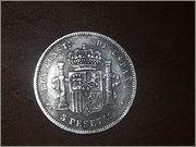 5 pesetas 1893.*18-93* Alfonso XIII - P.G.V.- 20131106_185318