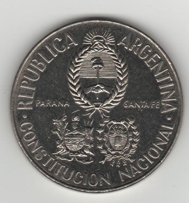 5 Pesos. Argentina. 1994 ANVERSO