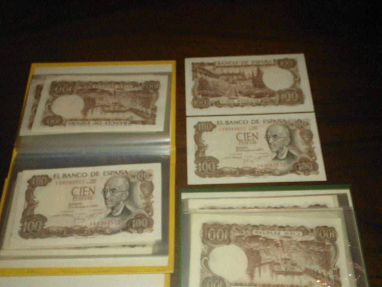 50 billetes correlativos de 100 pesetas de manuel de falla WP_000088