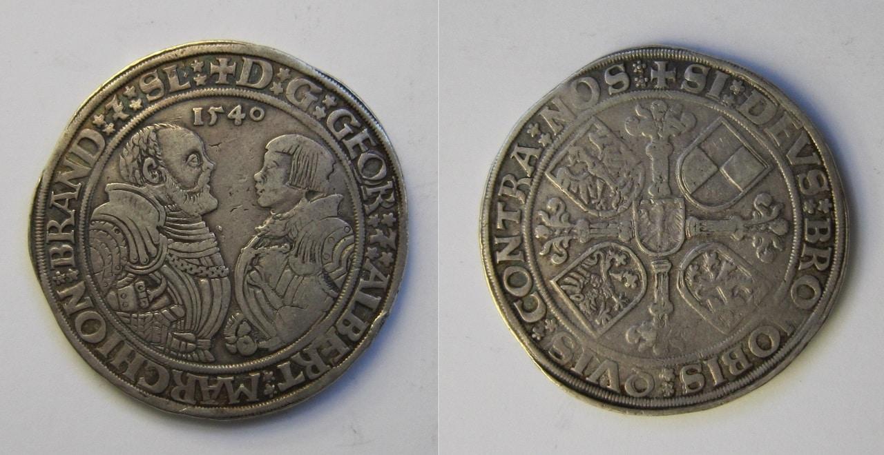 1 Thaler. Brandenburg, Franken. 1540. Schwabach 1_Thaler_Brandenburgo_Franconia_1540