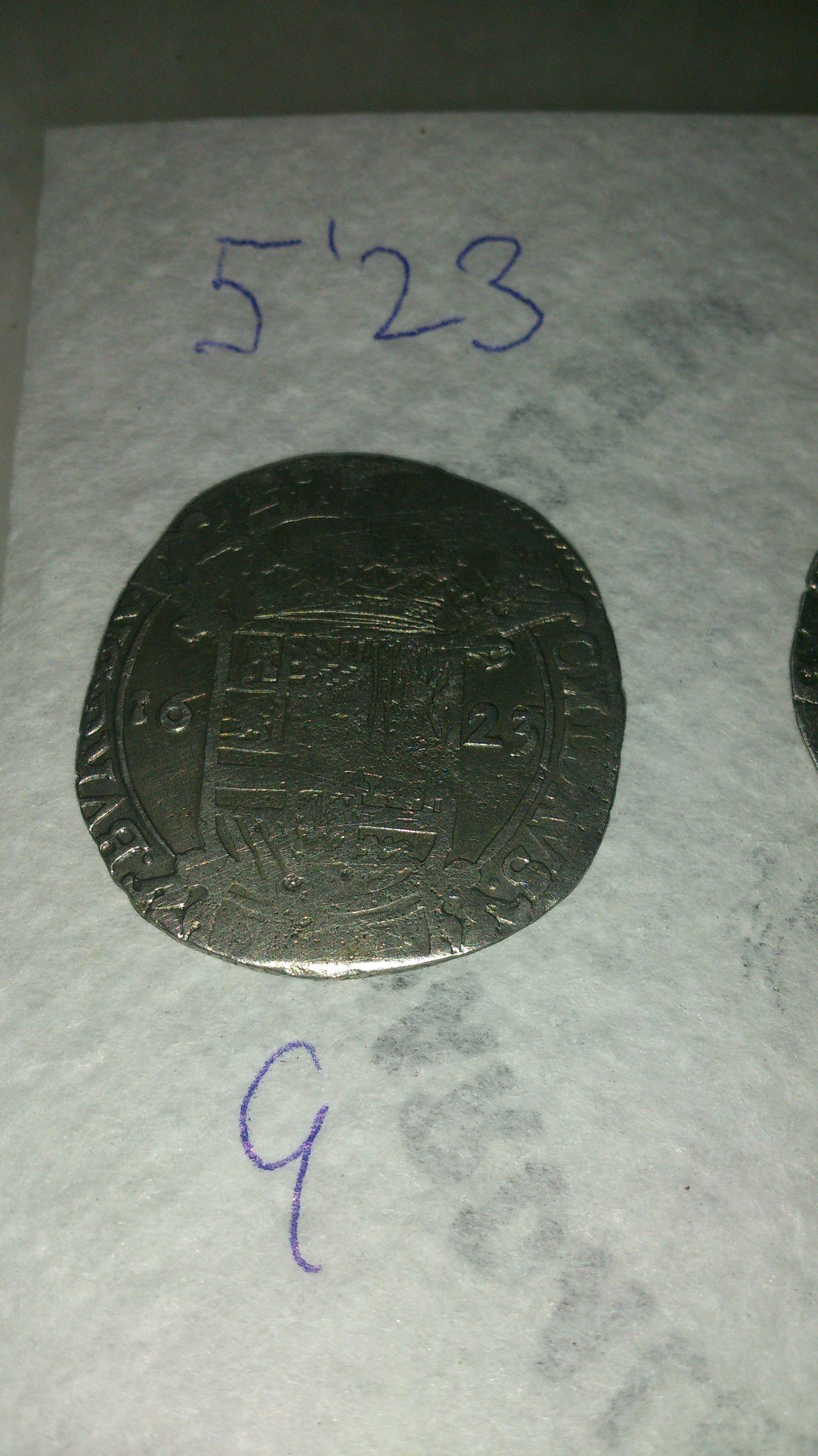 Escalín de plata de Felipe IV. 1623. Amberes o Bruselas. DSC_0130