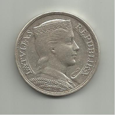 5 Lati. Letonia. 1929 5_lati_1929_Letonia_a