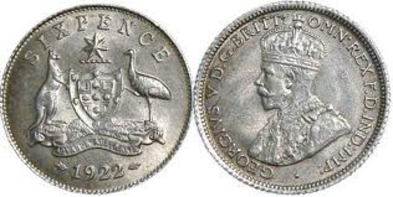 MONEDA DE UN PENIQUE 1928 - EL ESCULTOR DEL REY AAA_SIXPENCE_1922