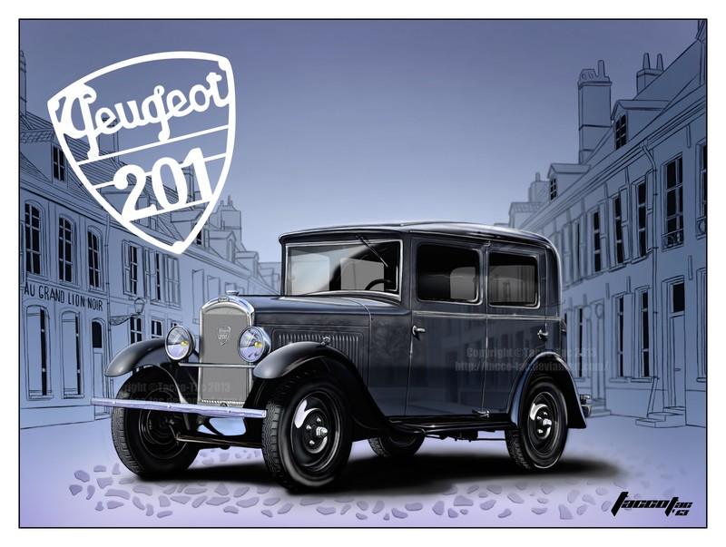 dessins - Dessins, illustrations et imagerie 3D PEUGEOT_201_1931_by_Tacco_Tac_02