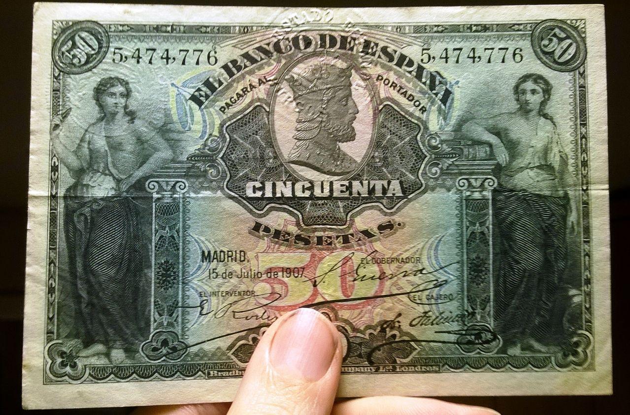 1907 - 50 pesetas 1907 (Doble sello seco, Burgos-República) WP_20151224_016