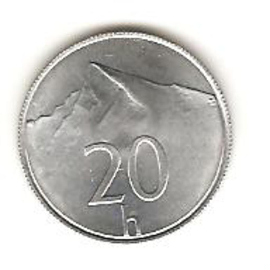 20 Haleru de 1993 Eslovaquia Image