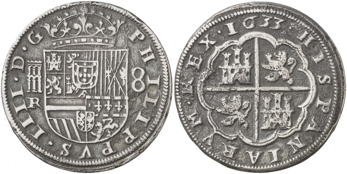 8 reales felipe IV ceca de Segovia. 2527193l