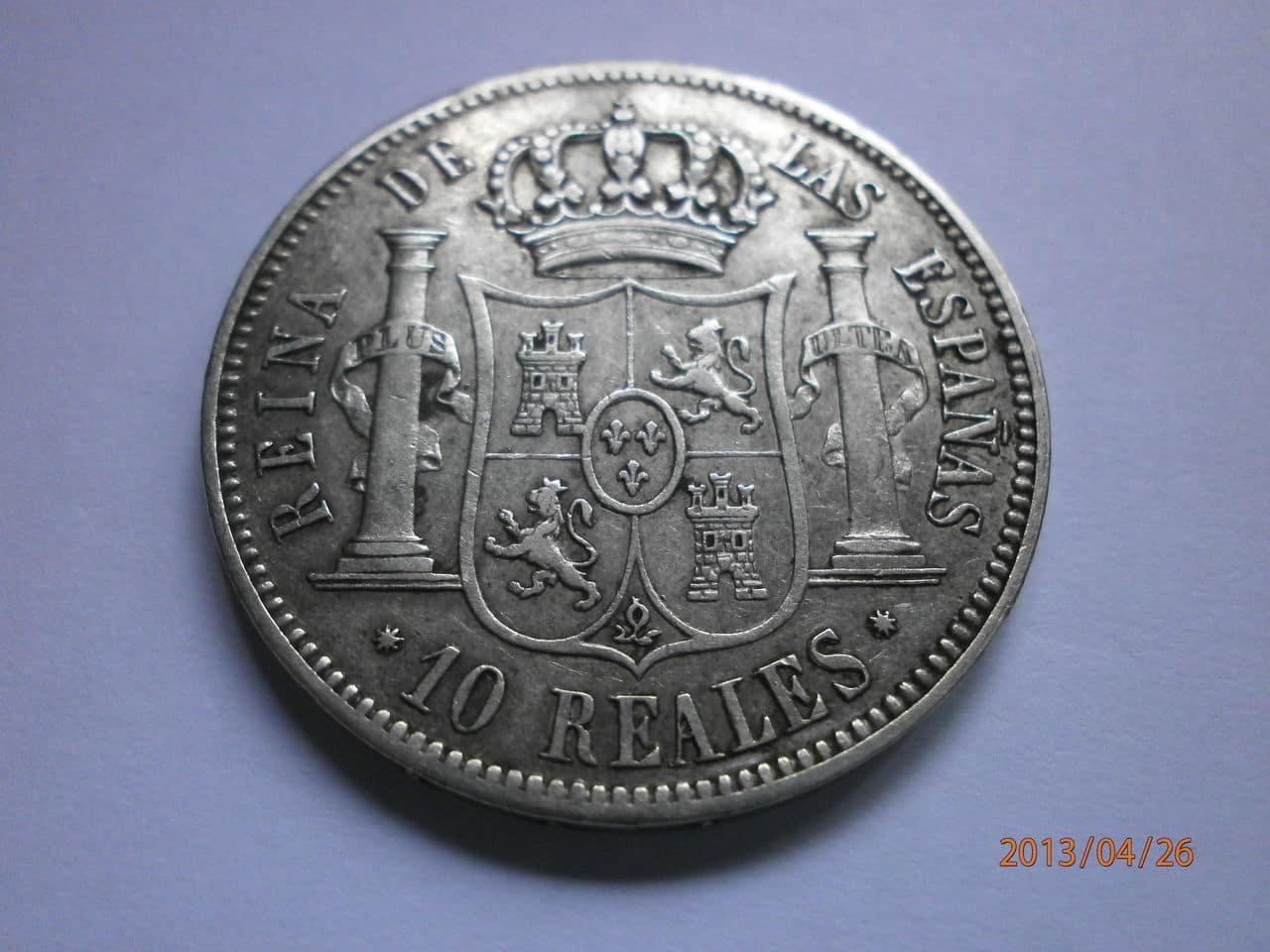 10 Reales 1860 Isabel II Barcelona P4260031