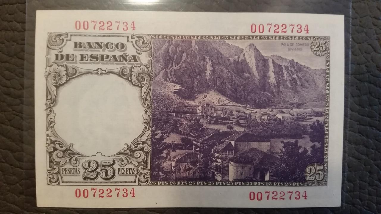 Colección de billetes españoles, sin serie o serie A de Sefcor pendientes de graduar 20161217_113747