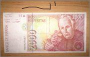 2000 Pesetas 1992 (Serie 9C) Billete