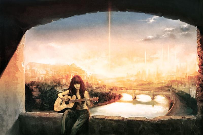 Música y pintura Guitar_by_masateru
