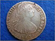 8 Reales 1808 Carolus IIII Potosi PJ 8_reales_1808_Carlos_IV_Potos_Anverso
