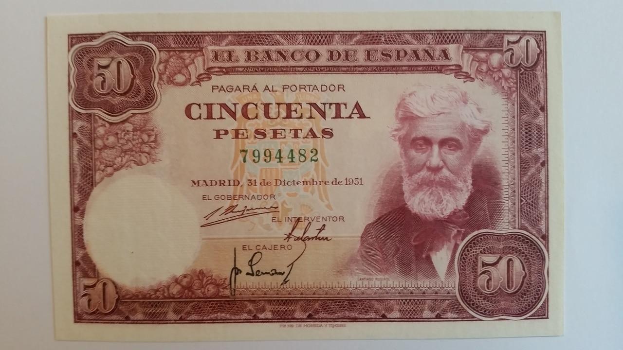 Colección de billetes españoles, sin serie o serie A de Sefcor pendientes de graduar 20161217_121243