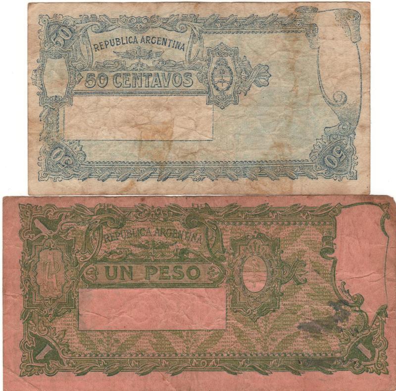 1 Peso Argentina, 1947 REVERSO