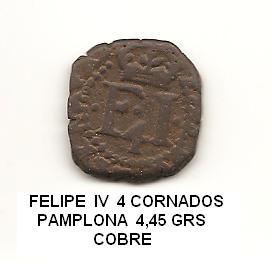 4 cornados de Felipe IV 1624 Image