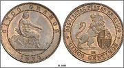Monedas con leones 5cntimos1870omscn