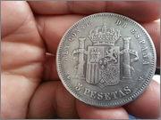 5   pesetas  1885*18-87* Alfonso XII - M.S.M  20131121_155405