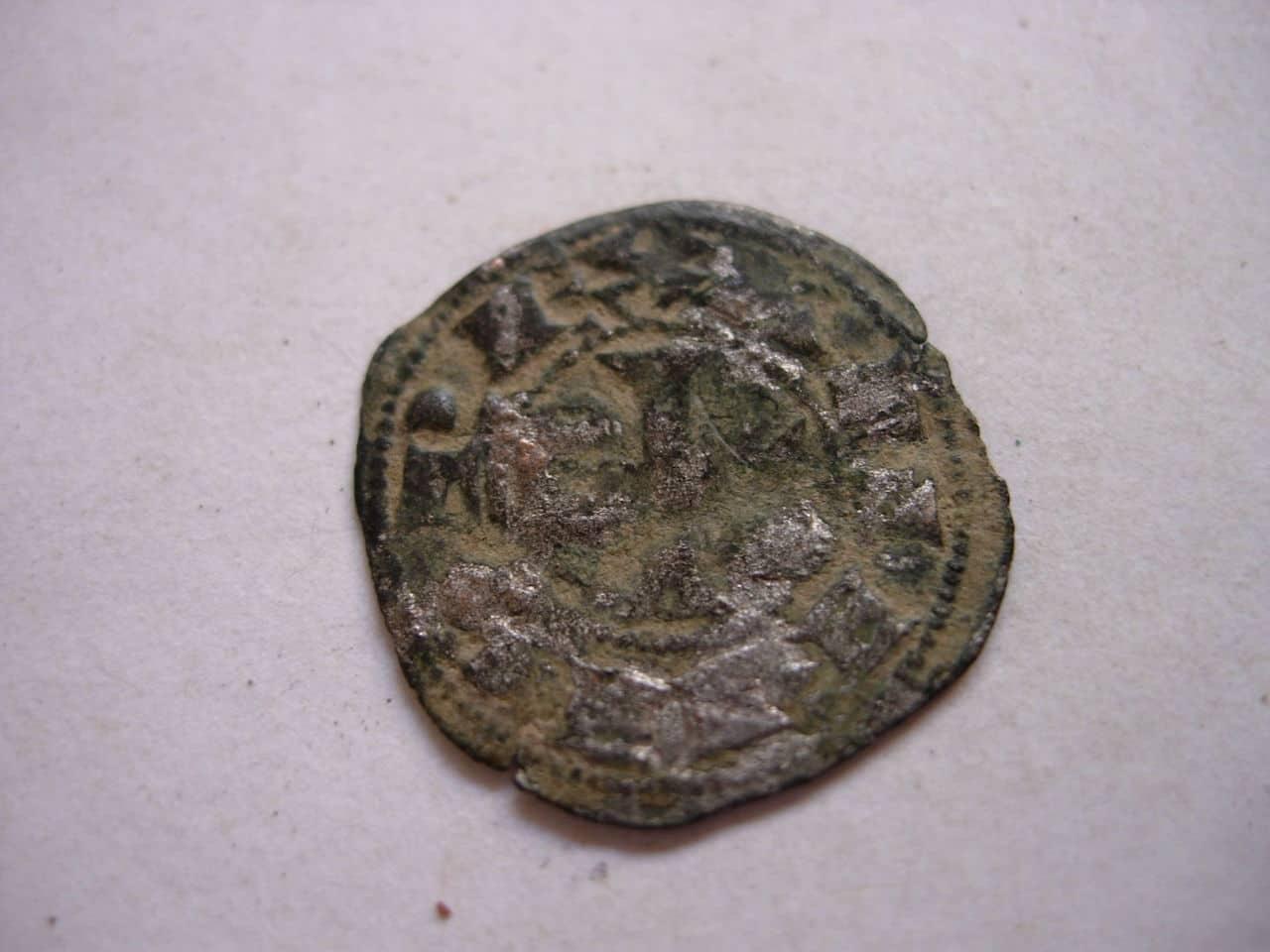 Dinero de Alfonso VIII. Jinete sosteniendo palma. (1158-1214). Toledo. Baj_204
